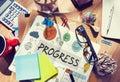 Progress development growth innovation advancement concept Stock Image