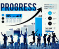 Progress Improvement Development Success Growth Concept Royalty Free Stock Photo