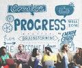 Progress improvement growth progressive development concept Stock Photo