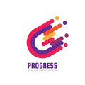 Progress - logo template concept illustration. Development - abstract creative sign. Design element
