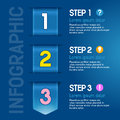 Progress steps for tutorial product choice or user manual vector Royalty Free Stock Images