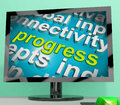 Progress Word Cloud Means Maturity Growth  And Improvement Royalty Free Stock Photo