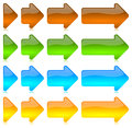 Progressive colored arrows icons Royalty Free Stock Photos