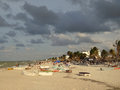Progreso Beach at Sunset Royalty Free Stock Photo