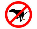 Prohibido para los perros Imagen de archivo