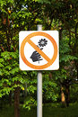 Prohibit signal and tree in park Stock Image