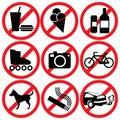 Prohibited Royalty Free Stock Photo