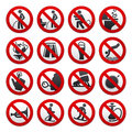 Prohibited signs vector illustration this is file of eps format Stock Image