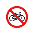 Prohibiting a sign, prohibiting movement on a bicycle