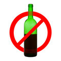 Prohibiting symbol of alcohol drinking Royalty Free Stock Photo