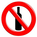 Prohibition ingestion bottles Royalty Free Stock Image