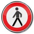 Prohibition for pedestrians it is too dangerous Stock Photos