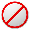 Prohibition, restriction, forbidden, no enty sign. Red circle