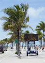 A prohibition sign on the beach street led lighted by no open alcohol Royalty Free Stock Image
