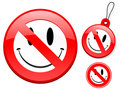 Prohibition sign collection - smiley Royalty Free Stock Image