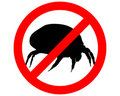 Prohibition sign for house dust mites Stock Image