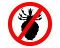 Prohibition sign for lice Royalty Free Stock Photo