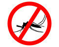 Prohibition sign for mosquitos Royalty Free Stock Images
