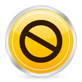 Prohibition sign yellow circle Royalty Free Stock Images