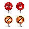 Prohibition signs Royalty Free Stock Images