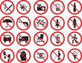 Prohibition signs Royalty Free Stock Photography
