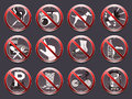 12 prohibition signs
