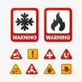 Prohibition signs set oil industry production vector yellow red warning danger symbol forbidden safety information and