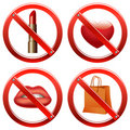 Prohibition Signs - Set One Stock Images