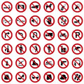 Prohibition signs Royalty Free Stock Photo