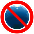 Prohibitory road sign with Earth Royalty Free Stock Image