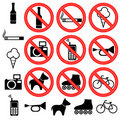Prohibitory signs. Stock Image