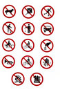 Prohibitory Traffic Signs - Rules and Regulations Stock Images