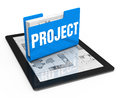 Project as an idea business development a concept Stock Image