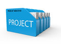 Project as an idea business development a concept Royalty Free Stock Image