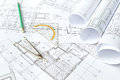 Project drawings Royalty Free Stock Photo