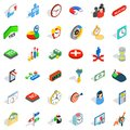 Project icons set, isometric style Royalty Free Stock Photo