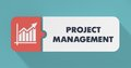 Project Management Concept in Flat Design. Stock Images