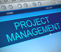 Project management concept. Royalty Free Stock Photo