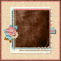 Project page family album in retro style digital scrapbook templates Stock Image