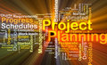 Project planning background concept glowing