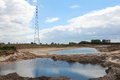 Project room for river rammelwaard in holland the dutch government has a number of areas designated which can be used as the water Royalty Free Stock Photos