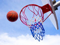 Projectile de basket-ball Photo stock