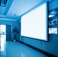 Projection screen in meeting room Stock Image