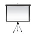 Projector screen isolated on white background Stock Photo