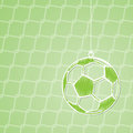 Projeto abstrato do fundo do futebol com bola de suspensão Imagem de Stock
