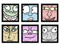 Projeto criativo de desenhos animados da foto do quadro Fotografia de Stock