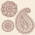 Projeto do Doodle da flor de Mehndi Paisley do Henna Foto de Stock Royalty Free