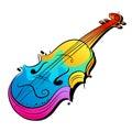 Projeto do violino do vetor Fotografia de Stock Royalty Free