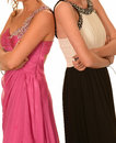 Prom dresses women with various Royalty Free Stock Image