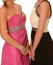 Prom dresses women with various Royalty Free Stock Photography